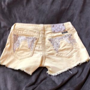 Yellow Miss Me Shorts